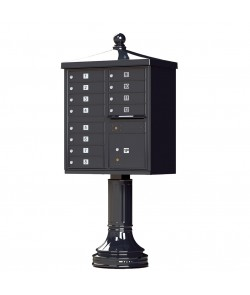 Finial Cap and Traditional Pedestal accessories - 12 compartment