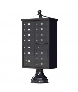 Finial Cap and Traditional Pedestal accessories - 13 compartment