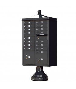 Finial Cap and Traditional Pedestal accessories - 16 compartment