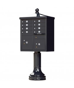 Finial Cap and Traditional Pedestal accessories - 8 compartment