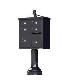 Finial Cap and Traditional Pedestal accessories - 4 oversized compartments