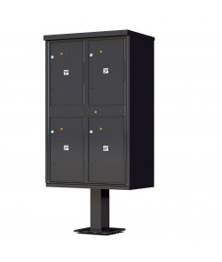 OPL Type II Outdoor Parcel Locker - 4 parcel compartments