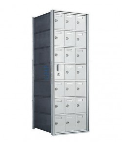 "21 A Doors, 38-3/4""H Private Horizontal Mailbox"