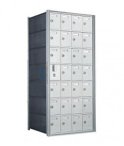 "28 A Doors, 38-3/4""H Private Horizontal Mailbox"