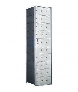 "30 A Doors, 55""H Private Horizontal Mailbox"