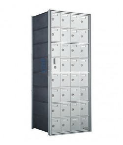"32 A Doors, 44-1/8""H Private Horizontal Mailbox"