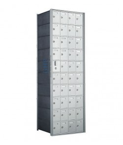 "40 A Doors, 55""H Private Horizontal Mailbox"