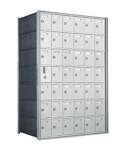 "42 A Doors, 38-3/4""H Private Horizontal Mailbox"