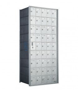 "45 A Doors, 49-1/2""H Private Horizontal Mailbox"