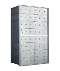 "48 A Doors, 44-1/8""H Private Horizontal Mailbox"