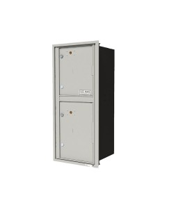 "Single column unit with 1-15"" parcel locker and  1-18""H parcel locker"