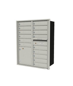 "Double column unit with 15-tenant doors and  1-15""H parcel locker"