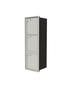 "Single column unit with 3-15""H parcel lockers"