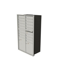 "16-tenant doors1-15""H and 1-18""H parcel locker"