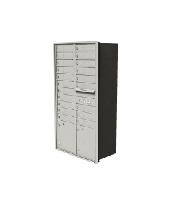 "20-tenant doors with 2-15"" parcel lockers"