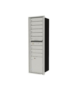 "9-tenant doors with 1-15""H parcel locker"