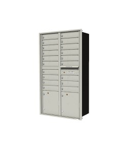 "19-tenant doors with 2-15"" H parcel locker"