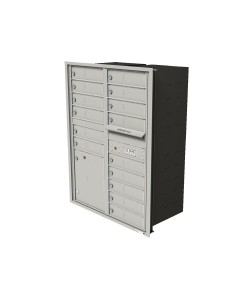 "15-tenant doors with 1-15""H parcel locker"