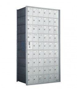 "54 A Doors, 49-1/2""H Private Horizontal Mailbox"