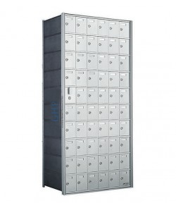 "60 A Doors, 55""H Private Horizontal Mailbox"